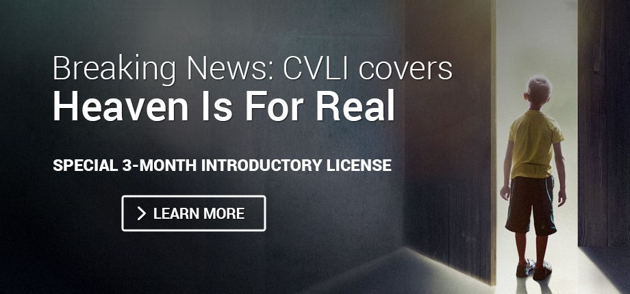 Breaking News: CVLI covers Heaven Is For Real